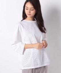 BENETTON (women)/ボーラー刺繍ラグラン七分袖Tシャツ・カットソー/501891678