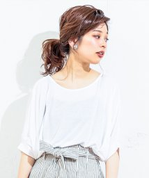 NICE CLAUP OUTLET/【natural couture】前後2WAYゆるさらっカットソー/501894586