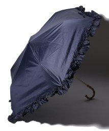 pink trick/完全遮光 晴雨兼用 折りたたみ傘 フリル 遮光率100% 遮蔽率100% 1級遮光 遮熱 軽量 UVカット/501896957
