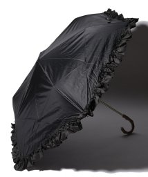 pink trick/完全遮光 晴雨兼用 折りたたみ傘 フリル 遮光率100% 遮蔽率100% 1級遮光 遮熱 軽量 UVカット/501896958