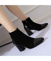 chuclla/チュクラ chuclla 異素材 MIXデザイン ショートブーツ ブーツ ヒール 靴 厚底/501897079