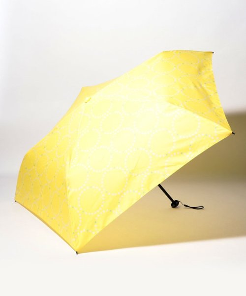 pink trick(ピンクトリック)/BE SUNNY ビーサニー スリム3段折りたたみ傘 サークルフラワー ポーチ付  (晴雨兼用 UVカット 紫外線カット 耐風 軽量 撥水)/87393