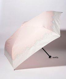 pink trick/BE SUNNY ビーサニー スリム3段折りたたみ傘 フラワークラウン ポーチ付  (晴雨兼用 UVカット 紫外線カット 耐風 軽量 撥水)/501897625