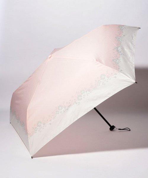 pink trick(ピンクトリック)/BE SUNNY ビーサニー スリム3段折りたたみ傘 フラワークラウン ポーチ付  (晴雨兼用 UVカット 紫外線カット 耐風 軽量 撥水)/87396