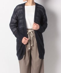 NICE CLAUP OUTLET/【OUTLET】透かし編みニットロングカーデ/501897714