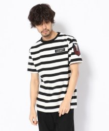 AVIREX/【men's FUDGE 7月号掲載】ネーヴァル パッチ ボーダーTシャツ/NAVAL PATCH BORDER T-SHIRT/501432329
