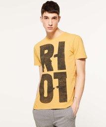 SISLEY/スラブグラフィックプリント半袖Tシャツ・カットソー2/501596198