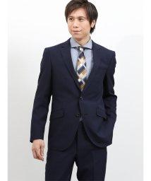m.f.editorial/ストレッチ洗えるスラックス シャドーストライプ紺 2ピースレギュラースーツ/501905273