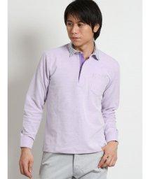 TAKA-Q/バーズアイ鹿の子ハーフジップ長袖ポロシャツ/501905459