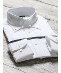 TAKA-Q/綿100%100双形態安定スリムフィットボタンダウン長袖ビジネスドレスシャツ/501905494