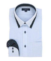 TAKA-Q/形態安定スリムフィット 比翼マイターボタンダウン長袖ビジネスドレスシャツ/501905504