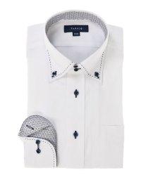 TAKA-Q/形態安定レギュラーフィット ドゥエボットーニWピンステッチ長袖ビジネスドレスシャツ/501905509