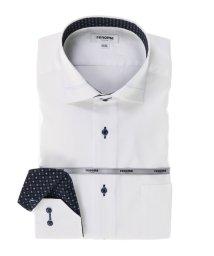 TAKA-Q/形態安定レギュラーフィット ワイドカラー長袖ビジネスドレスシャツ/501905541
