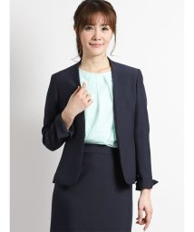 m.f.editorial/ストレッチウォッシャブル2ピーススーツ(ノーカラージャケット+タイトスカート)紺/501905756