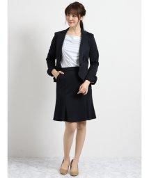 m.f.editorial/ストレッチウォッシャブル ポンチ1釦ジャケット+スカート 紺/501905758