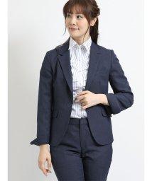 m.f.editorial/トラベスト 1釦ジャケット+スカート+パンツ 青バーズアイ/501905760