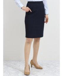 TAKA-Q/ストレッチウォッシャブル セットアップタイトスカート 紺シャドーチェック/501905766