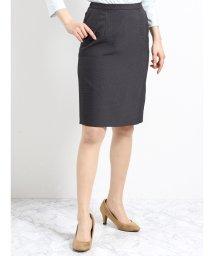 TAKA-Q/ストレッチウォッシャブル セットアップタイトスカート グレーピンヘッド/501905767