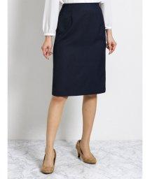 TAKA-Q/ハンドウォッシャブル セットアップタイトスカート 紺オックス/501905768
