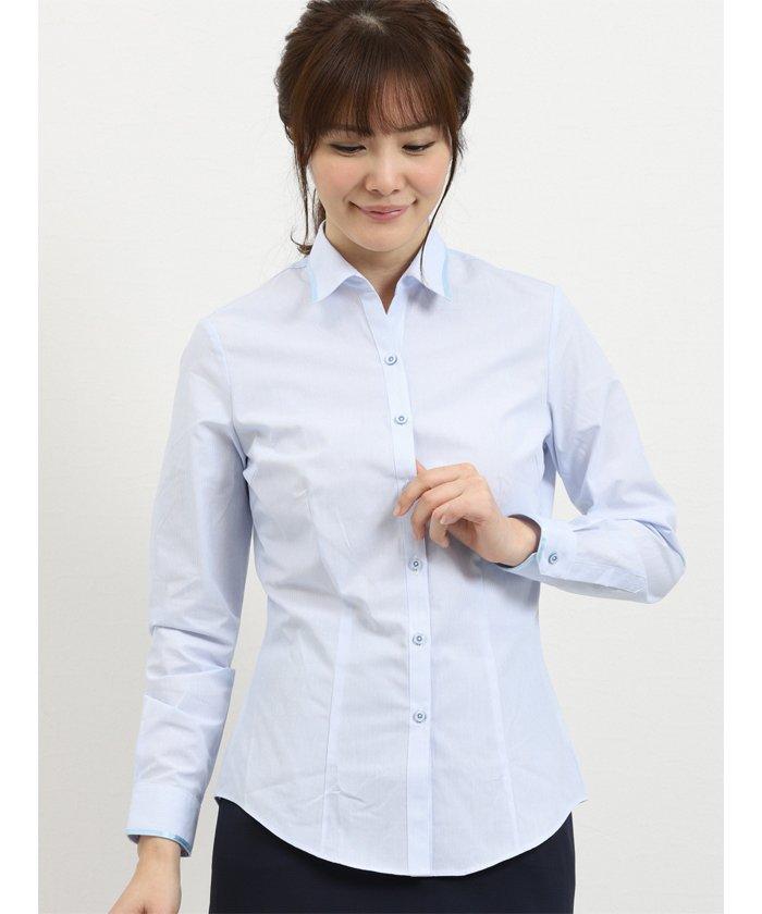 形態安定レギュラーカラースキッパー長袖シャツ
