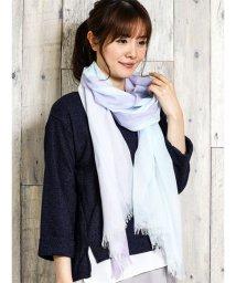 TAKA-Q/UV加工配色切替ストール(幅70cm)/501905886