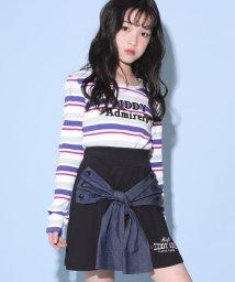 ZIDDY/【カタログ掲載】ミニ裏毛シャツ腰巻風スカート/501909583