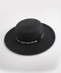ZIDDY/【ニコプチ掲載】ロゴ刺繍ペーパークラフトカンカン帽/501909592