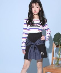 ZIDDY/【カタログ掲載】テレコマルチボーダーロゴ刺繍Tシャツ/501909597