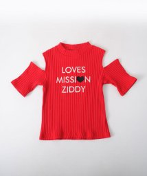 ZIDDY/【ニコプチ掲載】肩あきリブカットソーTシャツ/501909605