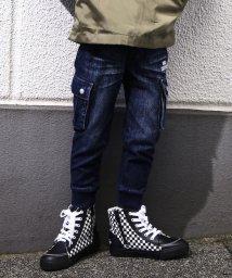 RAD CUSTOM/【カタログ掲載】デニムニットカーゴポケット付ジョグパンツ/501910108