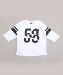 RAD CUSTOM/【カタログ掲載】天竺ラインプリント7分丈Tシャツ/501910120