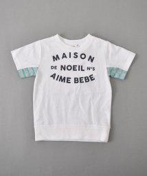 Noeil aime BeBe/【カタログ掲載】天竺ボーダーアクセントTシャツ/501910593