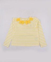SLAP SLIP/天竺ボーダーリボン付Tシャツ/501911321