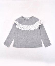 SLAP SLIP/天竺レース付Tシャツ/501911322