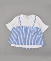 SLAP SLIP/WガーゼストライプキャミTシャツ/501911325