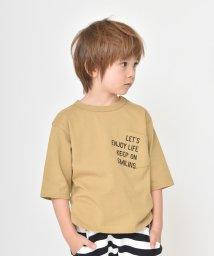 branshes/ロゴポケット7分袖Tシャツ(80~150cm)/501913290