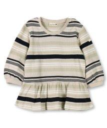branshes/マルチボーダーワッフル7分袖Tシャツ(80~150cm)/501913296