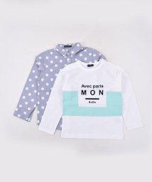 BeBe/ドットシャツ+ロゴプリントSET/501919228