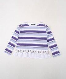 BeBe/モダールボーダ―裾レースカットソー/501919232