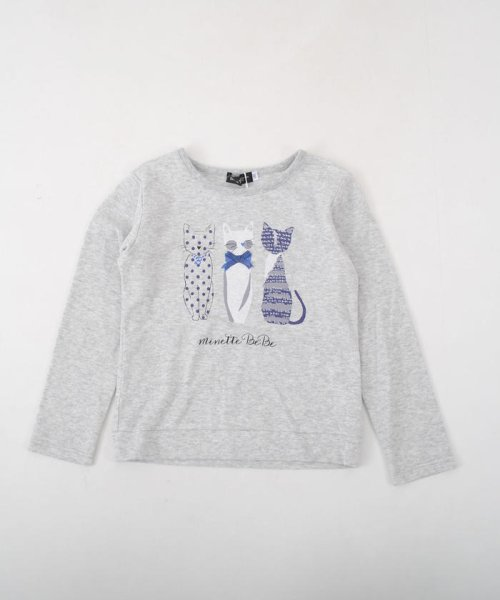 BeBe(ベベ)/ネコプリントTシャツ/111511527