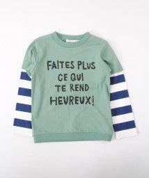 Noeil aime BeBe/【カタログ掲載】天竺ボーダーレイヤード風Tシャツ/501919328