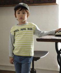 Noeil aime BeBe/【カタログ掲載】接結ボーダーブロッキングTシャツ/501919354