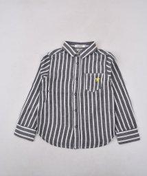 SLAP SLIP/Wガーゼストライプシャツ/501919430