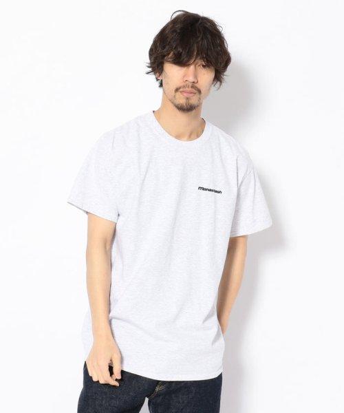 BEAVER(ビーバー)/MANASTASH/マナスタッシュ EMBROIDERY LOGO TEE 刺繍ワンポイントロゴTシャツ/7193069-10