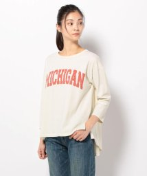 UNCUT BOUND/七分袖AラインプリントTシャツ /Rinajour(リナジュール)/501920881