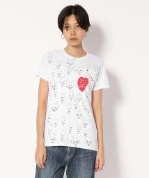 UNCUT BOUND/BLACK SCORE(ブラックスコア) fox heart Tシャツ /501920955