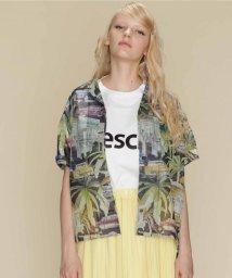 GRACE CONTINENTAL/リップストッププリントシャツ/501922812