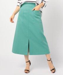 NOLLEY'S/[新色追加]ホイップドスキンAラインミディポケットスカート/501899816