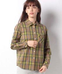 LAPINE BLEUE/【洗える】ブリティッシュストレッチドビーチェックシャツ/501901411