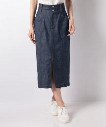LAPINE BLEUE/【セットアップ対応/洗える】ダブルスラブシャンブレースカート/501904798